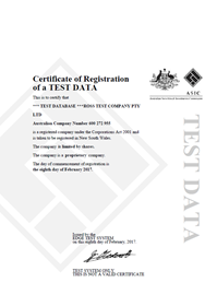 certificate of incorporation sample