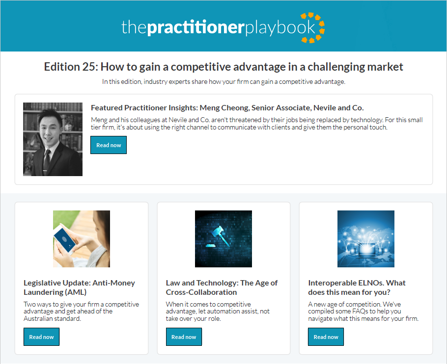 The Practitioner Playbook Edition 25