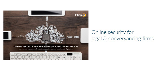 Online security tips for legal & conveyancing eBook | InfoTrack