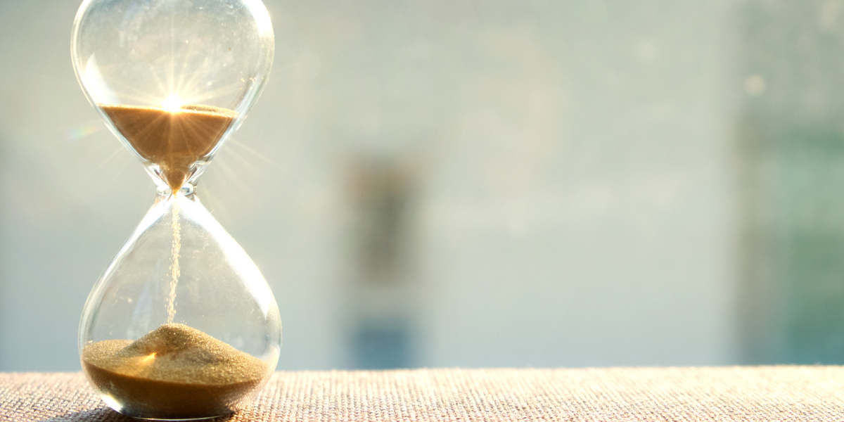 hourglass conveying passing of time